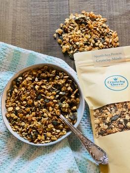 Sportliches-Protein Crunchy Granola Müsli